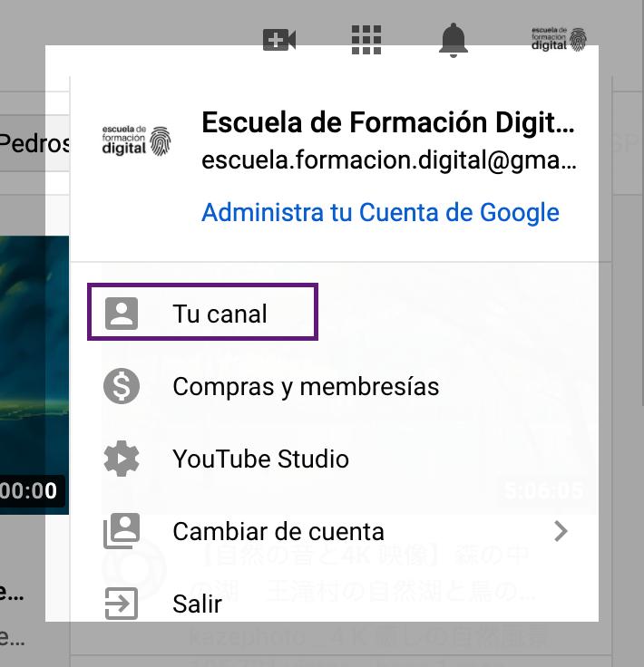 Cömo crear enlace de suscripcion a YouTube Mi cuenta tu cuentaa channel id youtube escuela de formacion digital cursos online marketing digital